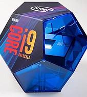 Caja de presentación de Intel Core i9.