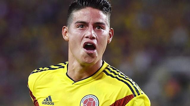 DEPORTES. El colombiano James Rodríguez celebra luego de anotar un gol hoy, jueves 11 de octubre de 2018, durante un partido amistoso entre Colombia y EE.UU., en Tampa, Florida