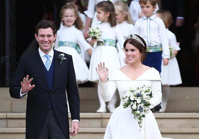 Princesa Eugenia y Jack Brooksbank se casaron en el castillo de Windsor