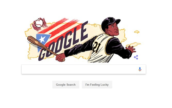 "Google dedicó ""doodle"" a Roberto Clemente"