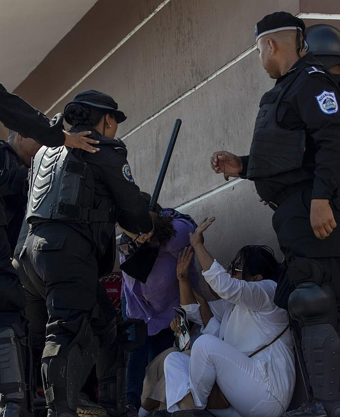 Detención de manifestantes en Nicaragua, el domingo 14 de octubre