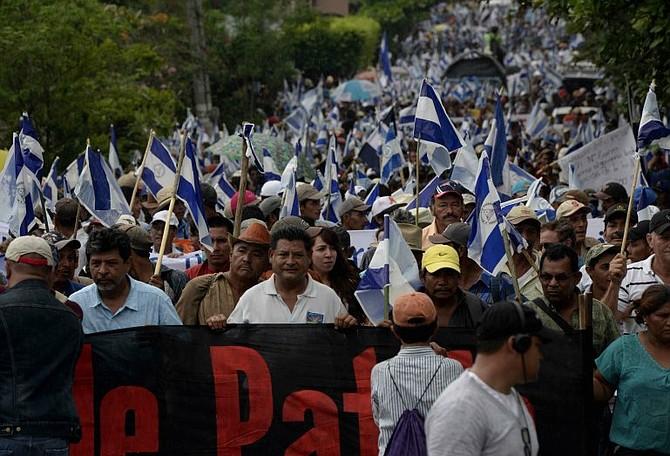 PROTESTA. Nicaragua enfrente un escenario de protestas en contra del Gobierno de Daniel Ortega.