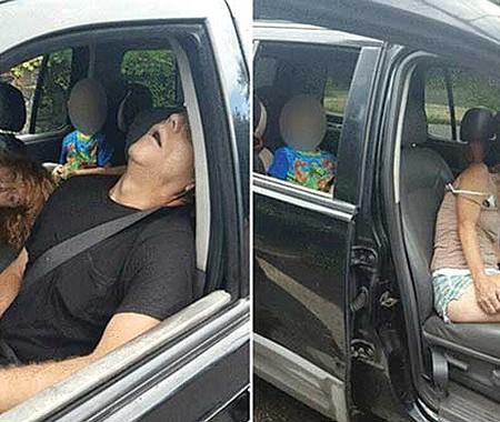 ESTRAGOS. La foto de una pareja inconsciente en su camioneta, con un pequeño de 4 años en el asiento trasero, presentada por la policía de Ohio a fines del 2016, se hizo viral y mostró por primera vez el horror del problema de la adicción a los narcóticos en este país.