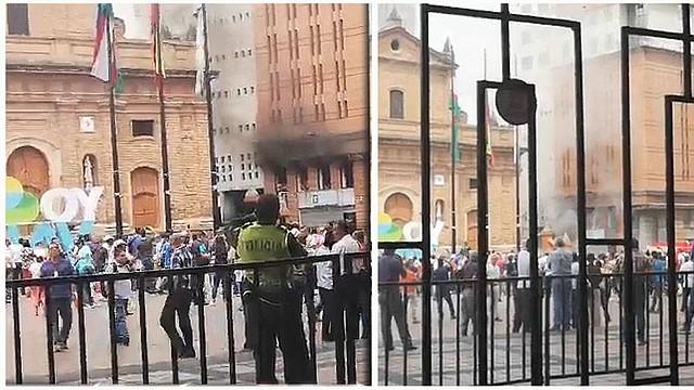 Momentos de pánico tras explosión en edificio de Fiscalía en Cali