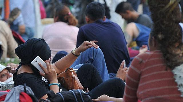 CARAVANA. Foto de uno de los grupos de centroamericanos que se dirigen a Estados Unidos