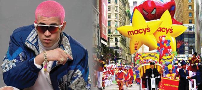 Bad Bunny en desfile de Macy's