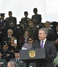 COLOMBIA. Fotografía cedida por la Presidencia de Colombia que muestra al mandatario Iván Duque
