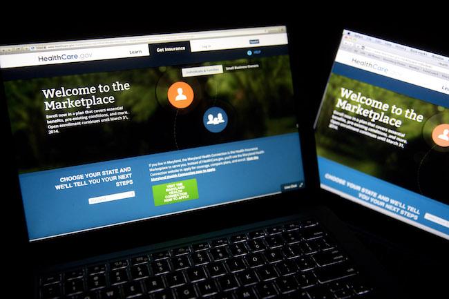 El sitio web Healthcare.gov el 4 de noviembre de 2013.