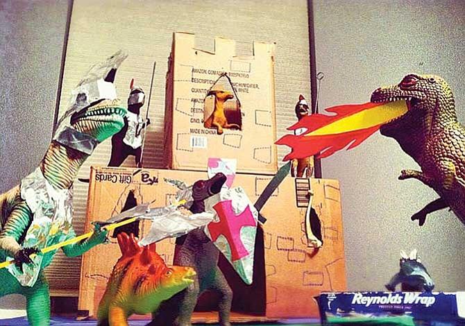 Fiesta con tiranosaurios