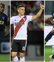 FÚTBOL. Barrios, Villa y Santos Borré serán los titulares de Boca y River
