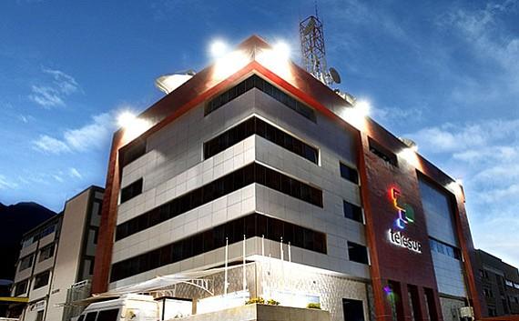 Sede de la red de TV regional Telesur, creada por el fallecido presidente Hugo Chávez.