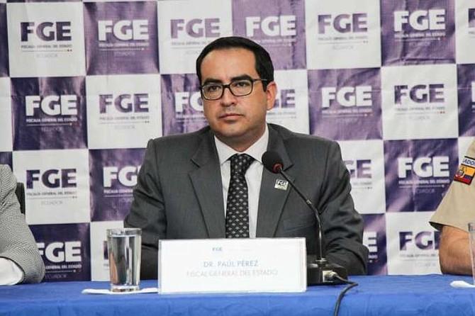ECUADOR. Fiscal general encargado, Paúl Pérez Reina