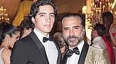 TALENTO. Alex Fernández y su padre, el famoso Alejandro.