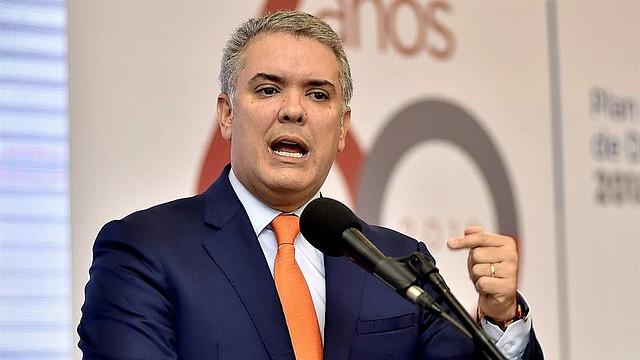 COLOMBIA. Fotografía cedida por la presidencia de Colombia, muestra al presidente Iván Duque durante la presentación de las bases del Plan Nacional de Desarrollo 2018-2022
