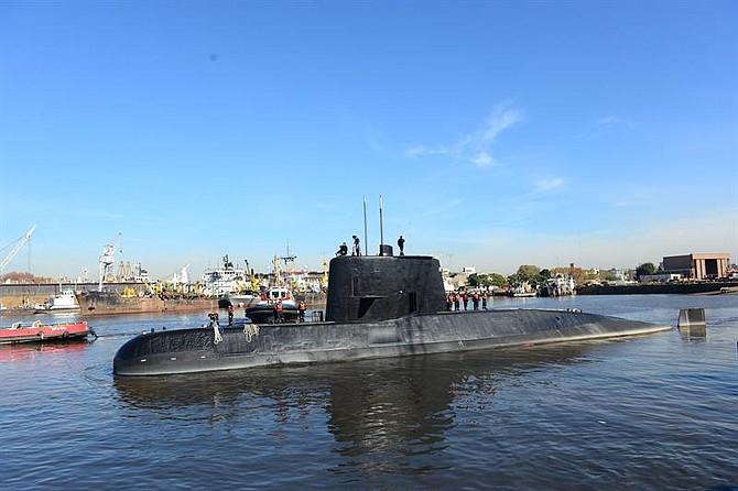 MADRID - Fotografía facilitada en noviembre de 2017 por la Armada Argentina del submarino ARA San Juan, hallado esta noche en el Atlántico a unos 600 kilómetros de la ciudad patagónica de Comodoro Rivadavia.