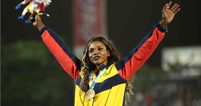DEPORTE. La colombiana Caterine Ibargüen se vistió de gloria en la Liga de Diamante