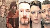 ESTAFADORES. (Arriba) Los investigadores sostienen que la foto de la campaña en GoFundMe fue fingida y tomada en un casino al que fueron McClure y D'Amico, lugar que también solía merodear Bobbitt. (Abajo) De izquierda a derecha: Johnny Bobbitt, Kate McClure y Mark D'Amico, acusados por estafa y conspiración.