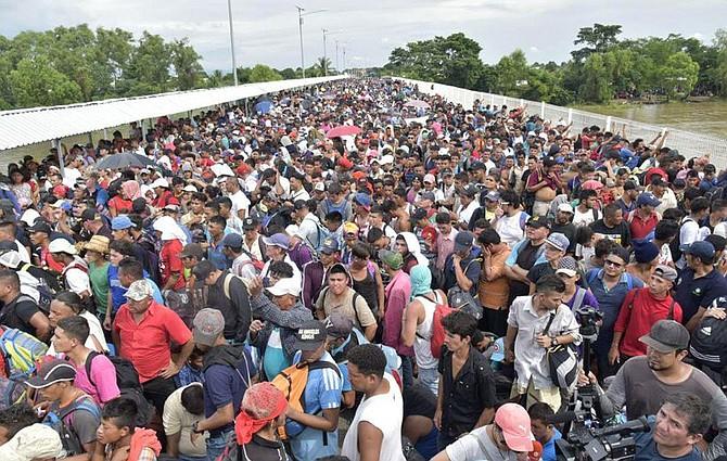 """MIGRACIÓN. """"La gente que viaja en la caravana necesita cooperar y escuchar con atención la información disponible para ella sobre los trámites legales disponibles"""", dijo el secretario de la ONU."""