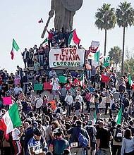 DE PASO. Desde mediados de octubre varias caravanas de inmigrantes centroamericanos (en su mayoría hondureños y salvadoreños) recorren el territorio mexicano con el objetivo de llegar a Estados Unidos. Gran parte de la población mexicana rechaza su presencia.