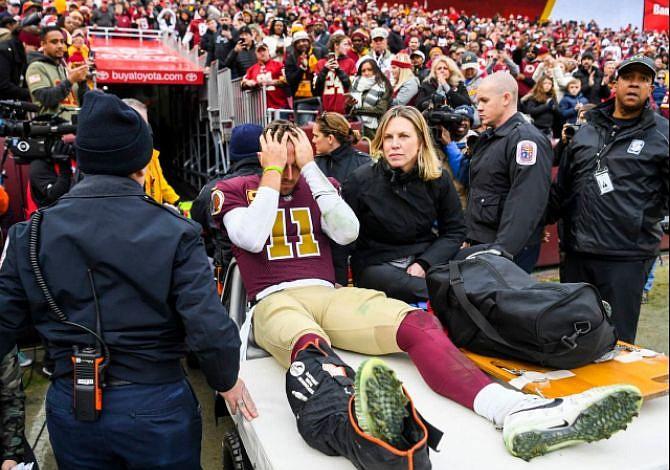 Redskins sufren un duro golpe al perder a Alex Smith