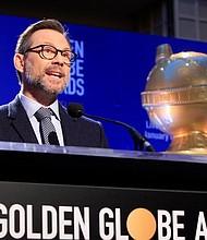 ESTADOS UNIDOS - El actor estadounidense Christian Slater anuncia en rueda de prensa las candidaturas a la 76 edición de los Globos de Oro en Beverly Hills, California.