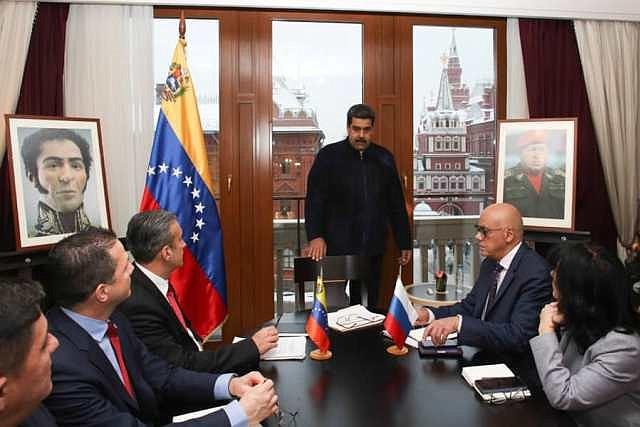 RUSIA - Maduro desde un cuarto de un hotel en Moscú anuncia los acuerdos logrados en su visita a Rusia el 06 de diciembre de 2018