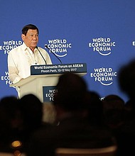 Presidente de Filipinas, RodrigoDuterte en el World Economic Forum de Phnom Penh, Cambodia.