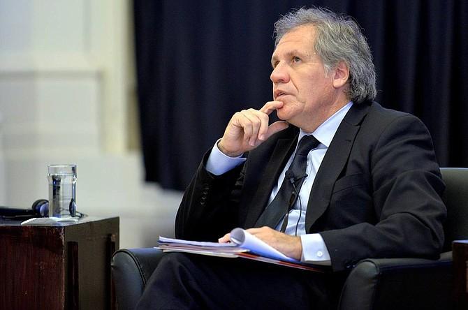 REELECCIÓN. El máximo responsable de la OEA asumió el liderazgo del organismo en 2015, con un mandato de cinco años y con el derecho a una reelección consecutiva.