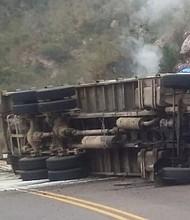 MÉXICO. Protección Civil de Sonora procedieron a cerrar la carretera Moctezuma-Hermosillo