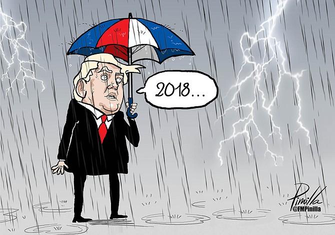 Caricatura: El 2018 de Trump | Por Pinilla