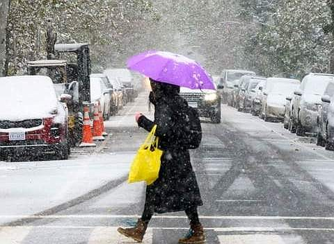 CLIMA. Para este domingo se pronosticó que podría nevar en DC