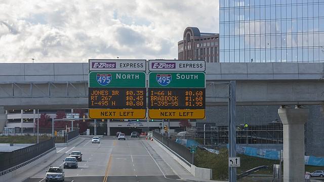 TRANSPORTE. Foto de referencia de una vía de tránsito proporcionada por 495 Express Lanes, en Virginia