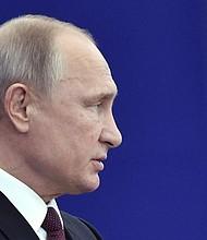 RUSIA. El presidente ruso, Vladímir Putin, pronuncia un discurso durante un acto de celebración del 25 aniversario de la Constitución de la Federación de Rusia