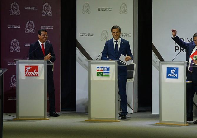 Debate presidencial de El Salvador: Candidatos chocan por cómo financiar planes de gobierno