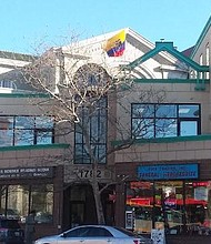 El consulado ecuatoriano funciona en el segundo piso de este edificio, ubicado en la Columbia Road, en el barrio Adams Morgan.