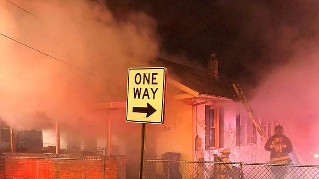 SINIESTRO. Foto de la casa incendiada en la cuadra 3300 de Ely Place SE, en Washington