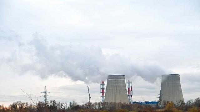 CONTAMINACIÓN. Foto de referencia de una planta que emite gases contaminantes