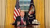 POLÍTICA. El presidente de los Estados Unidos, Donald J. Trump desde la Oficina Oval de la Casa Blanca
