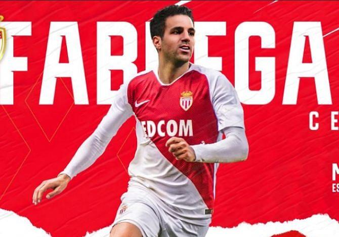El español Cesc Fabregas acuerda hasta 2022 con el Mónaco