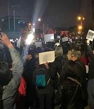 COLOMBIA. La protesta se llevó a cabo en Bogotá