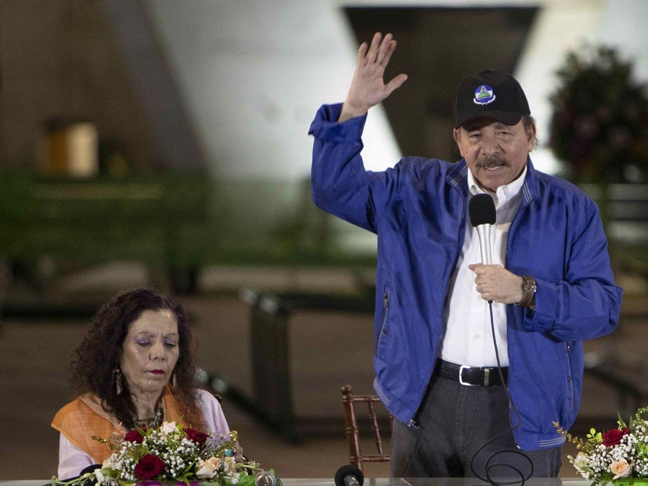 """MANAGUA. Daniel Ortega, primer mandatario, y Rosario Murillo, su esposa y vicepresidenta, llamaron """"terroristas"""", """"golpistas"""" y """"delincuentes"""" a los presos políticos en Nicaragua."""