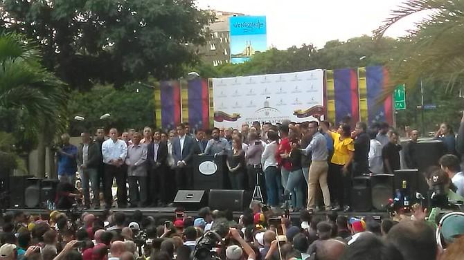 VENEZUELA. Representantes de la sociedad civil pidieron a los demás ciudadanos apoyar y acompañar a la nueva directiva de la Asamblea Nacional