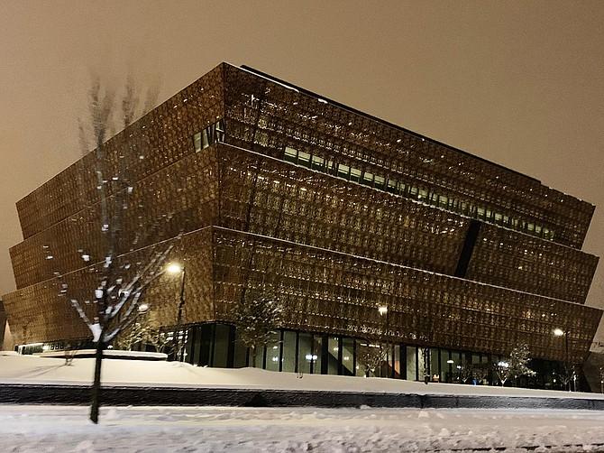 TIEMPO. Foto tomada en Washington durante la tormenta de nieve