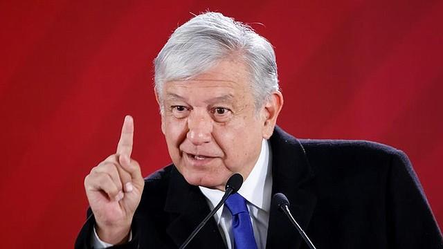 MÉXICO. El presidente de México, Andrés Manuel López Obrador, habla durante su rueda de prensa matutina en el Palacio Nacional, en Ciudad de México
