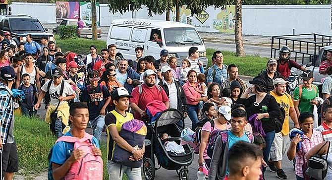 Nueva caravana partió de Honduras
