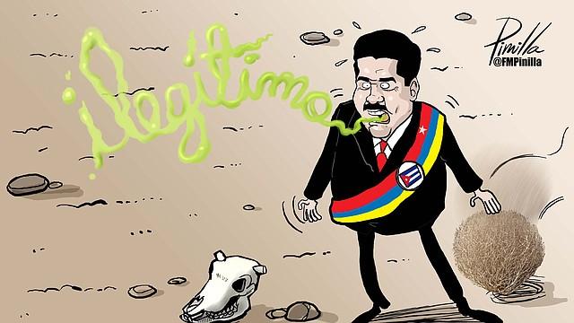 ILEGITIMIDAD. Nicolás Maduro se ha apoyado durante años en los presidentes del Poder Judicial, Electoral y Moral.