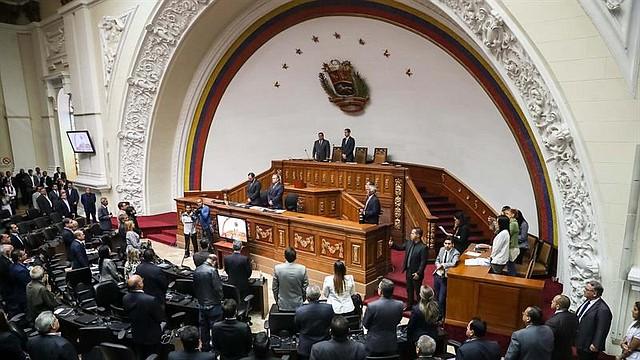 LEGISLACIÓN. Vista parcial del hemiciclo de sesiones de la Asamblea Nacional en Caracas