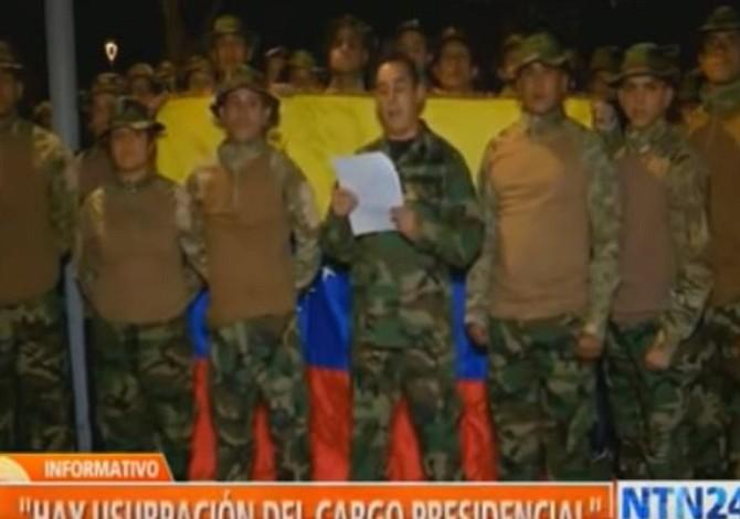 Militares venezolanos en el exilio se pronuncian desde Colombia