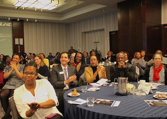 CELEBRACIÓN. Algunos de los asistentes al desayuno anual en memoria de Martin Luther King Jr. en el que UPO entregó las becas a 5 estudiantes de DC.