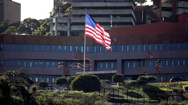 DIPLOMACIA. Vista externa de la Embajada de Estado Unidos en Caracas, el jueves 24 de enero de 2019